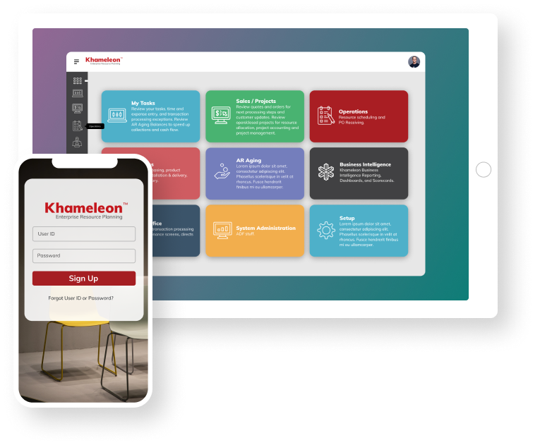 Khameleon dashboard on mobile devices