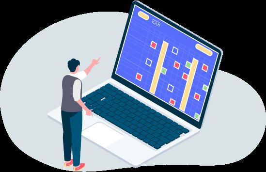 User analyzing data