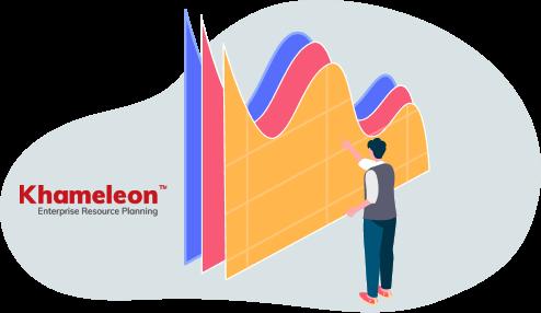 User analyzing graphs